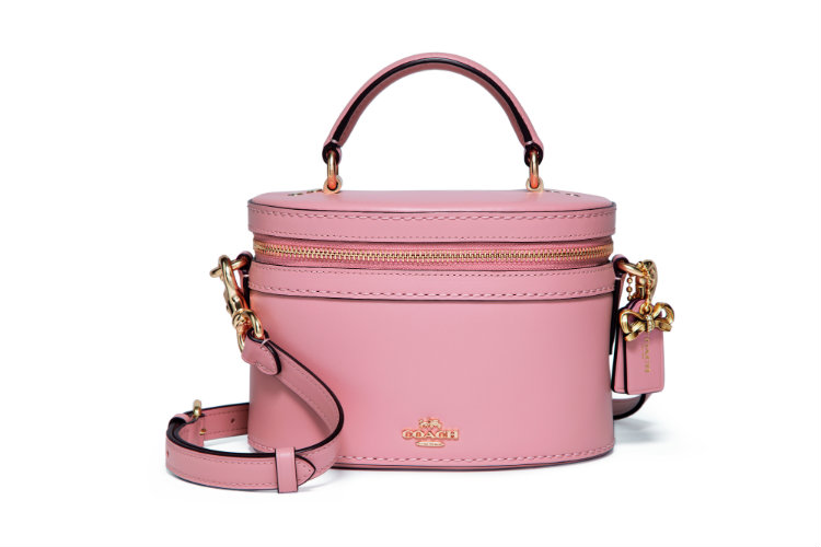 Coach x Selena Gomez_39293_Refined Calf Leather Selena Trail Bag_GD and Peony